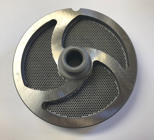 """#56 Meat Grinder Plate with 1/16'' Holes - """"Hub Plate"""""""