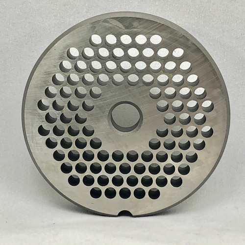 """#22 Meat Grinder Plate with 3/16'' Holes - """"Reversible Plate"""" - 104619"""