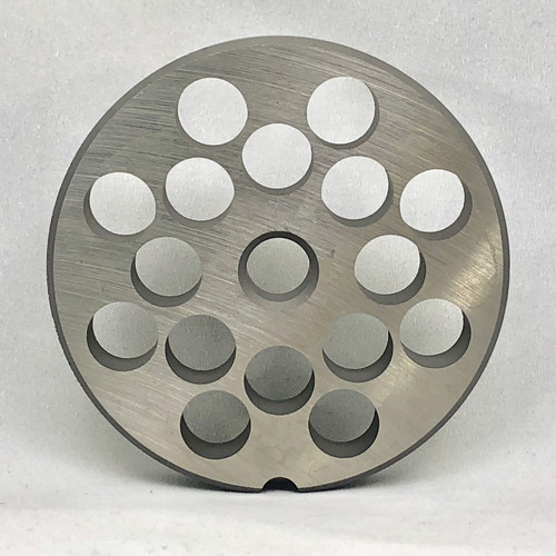 """#22 Meat Grinder Plate with 1/2'' Holes - """"Reversible Plate"""" - 102376"""