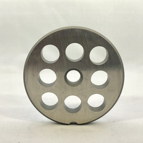 """#12 Meat Grinder Plate with 1/2' Holes - """"Reversible Plate"""" - 107375"""