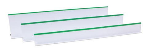 Plastic Dividers - White with Green Tip 7'' High