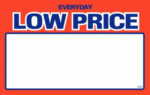 Price Card - Everyday Low Price 3.5'' x 5.5''