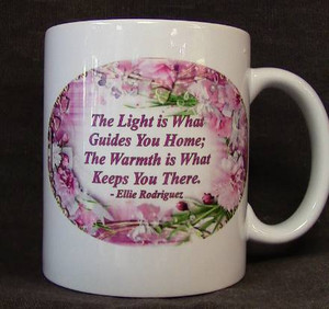 "Cup of Wisdom Candle - ""The Light is What Guides You Home..."""