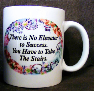 "Cup of Wisdom Candle - ""There is No Elevator to Success. You Have to Take the Stairs."""