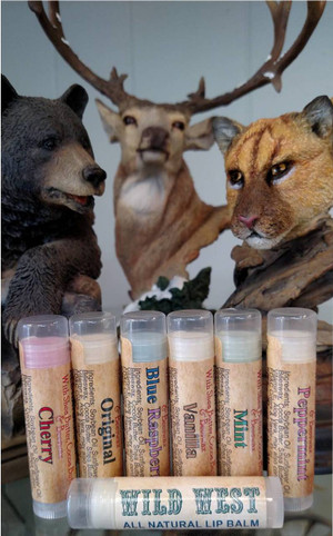 Wild West (4) All Natural Moisturizing Lip Balms-FREE SHIPPING!!