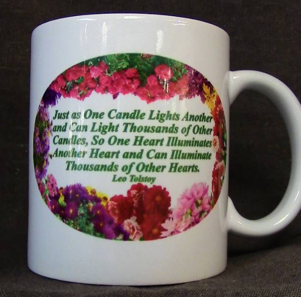 """Cup of Wisdom Candle - """"Just as One Candle Lights Another..."""""""