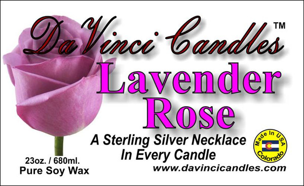 DaVinci 23oz Candles w/ Sterling Silver Necklace