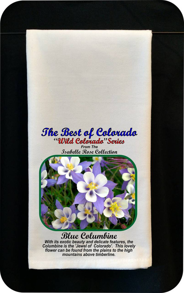 Colorado Flower Tea Towel - Blue Columbine