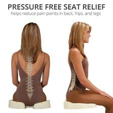 Raise tailbone to relive tailbone pain