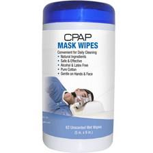 CPAP Wipes make it easy to clean CPAP Masks