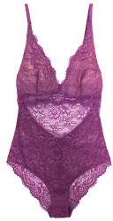ALL LACE CLASSIC BODYSUIT PURPLE ROSE