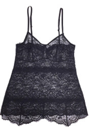 ALL LACE CLASSIC PYRAMID CAMI BLACK