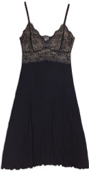 HOME APPAREL LACE CUP BALLERINA GOWN BLACK W/ BLACK LACE