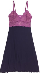 HOME APPAREL LACE CUP BALLERINA GOWN DEEP BLUE W/ PURPLE ROSE