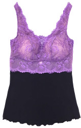 HOME APPAREL BUILT UP CAMI BLACK W/ IRIS LACE
