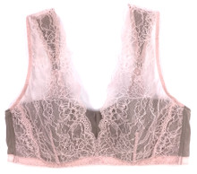 SILK WITH LEAVERS LACE LOLA BRA TOP HONEY