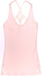 HIGH STREET RACERBACK TANK BLUSH
