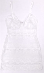 HONEYMOON ALL LACE FULL SLIP WHITE
