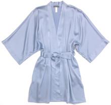CLASSIC SILK SHORT KIMONO FRENCH BLUE
