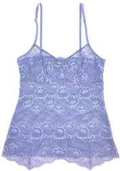 ALL LACE CLASSIC PYRAMID CAMI PERIWINKLE