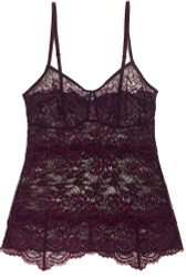 ALL LACE CLASSIC PYRAMID CAMI MERLOT