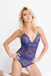 ALL LACE CLASSIC BODYSUIT COBALT