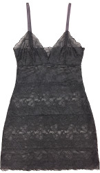 ALL LACE GLAMOUR FULL SLIP CHARCOAL