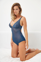 JET SET V BODYSUIT NAVY