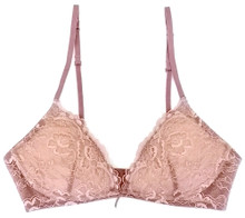 ALL LACE CLASSIC BRALETTE W/ REMOVABLE FOAM CUPS JAVA