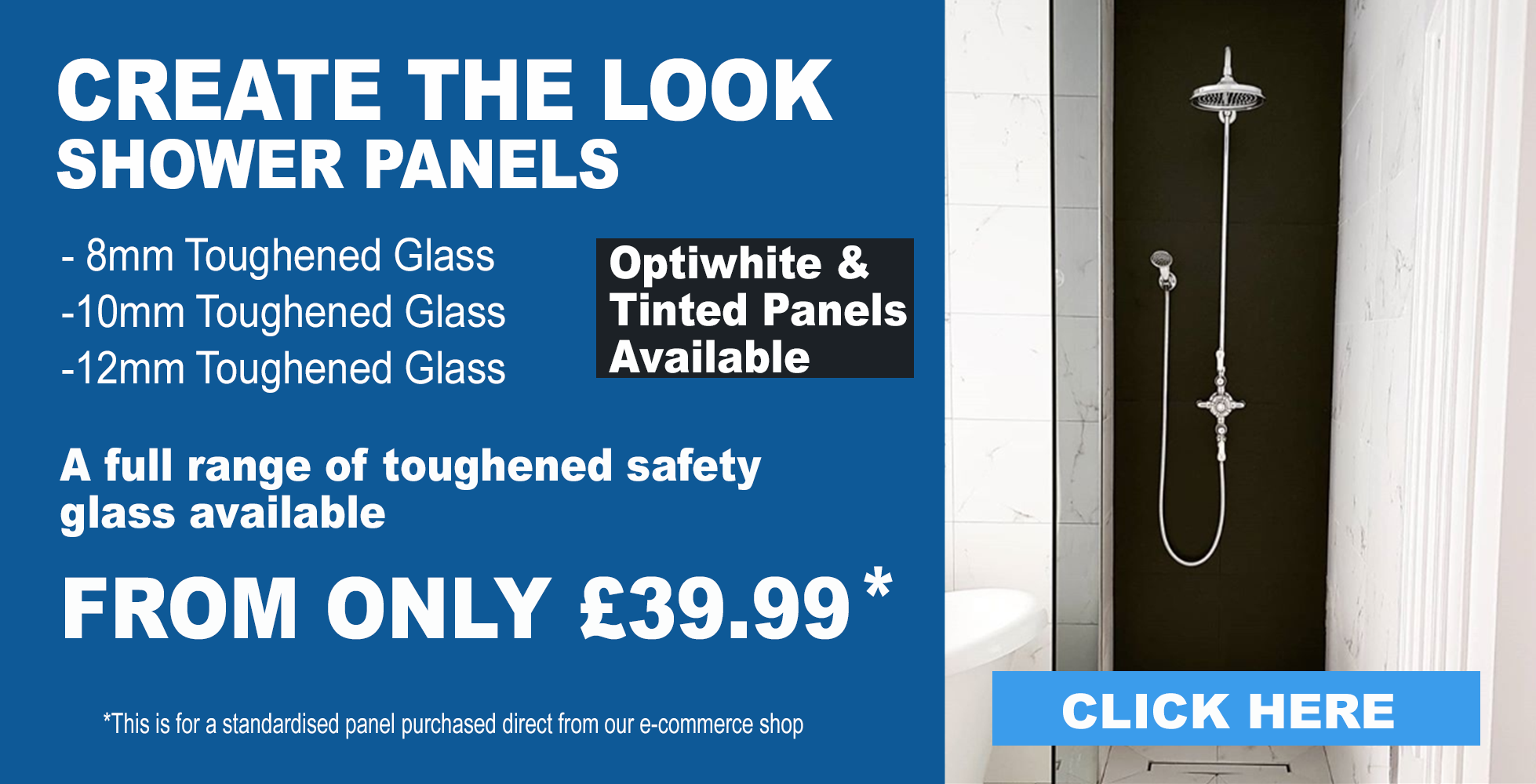 Shower glass panel 10mm