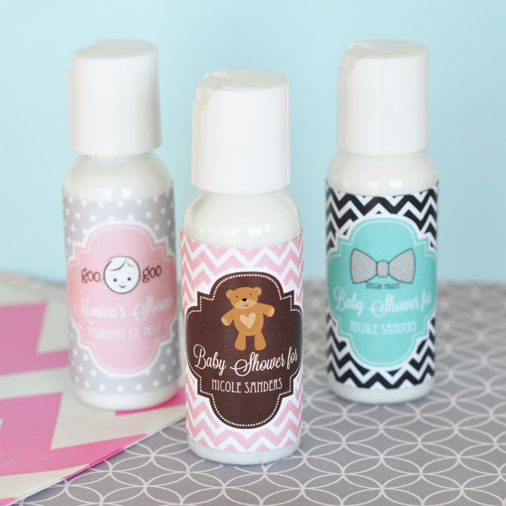 Personalized Baby Shower Party Favors - Hand Lotion Favor - 24 ct