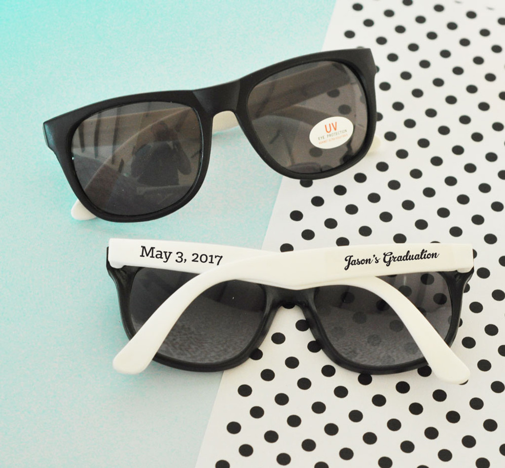 White Graduation Sunglasses (36ct) Sunglasses Favor - Graduation Party Favors - Grad Favors - Personalized Graduation Sunglasses