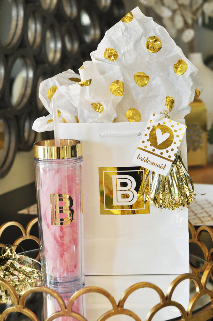 Personalized Tumblers - Brides Maid Gifts - Maid of Honor Gifts 6ct