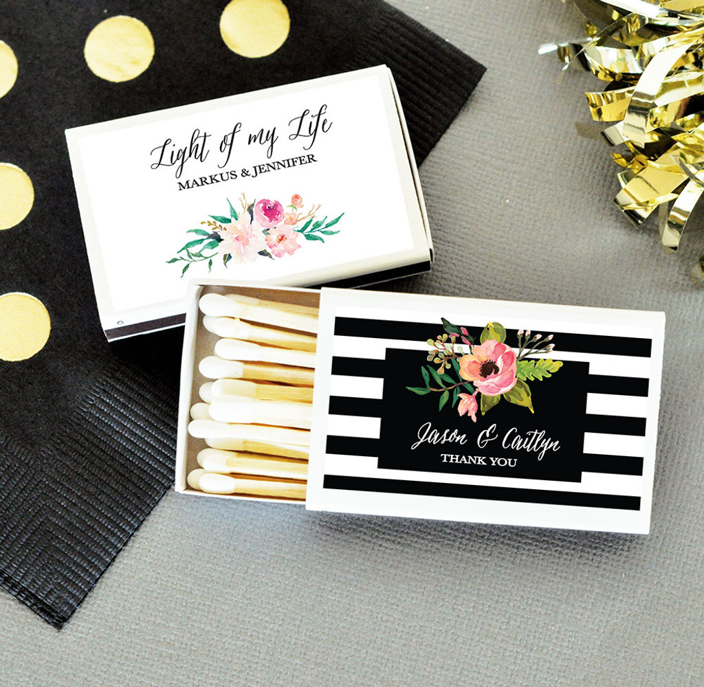 Wedding Matches 50ct Vintage Wedding Matches Favor, Floral Wedding Favors, Match Boxes, Bridal Shower Favors, Anniversary Favors