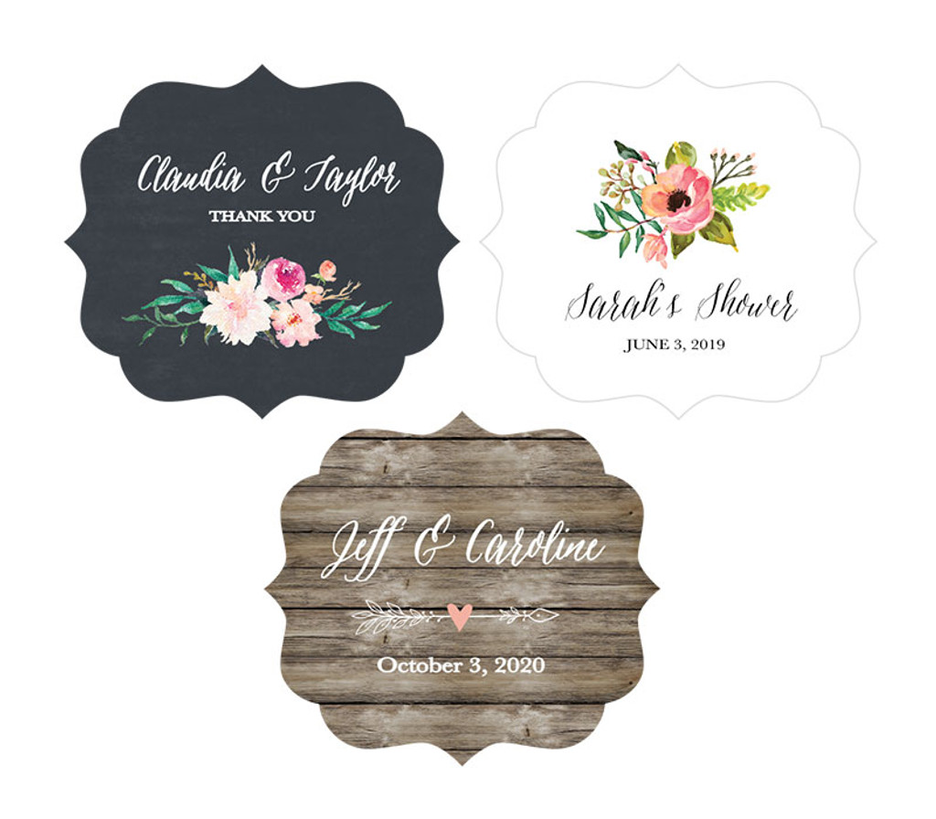 Personalized Floral Garden Frame Labels 12ct