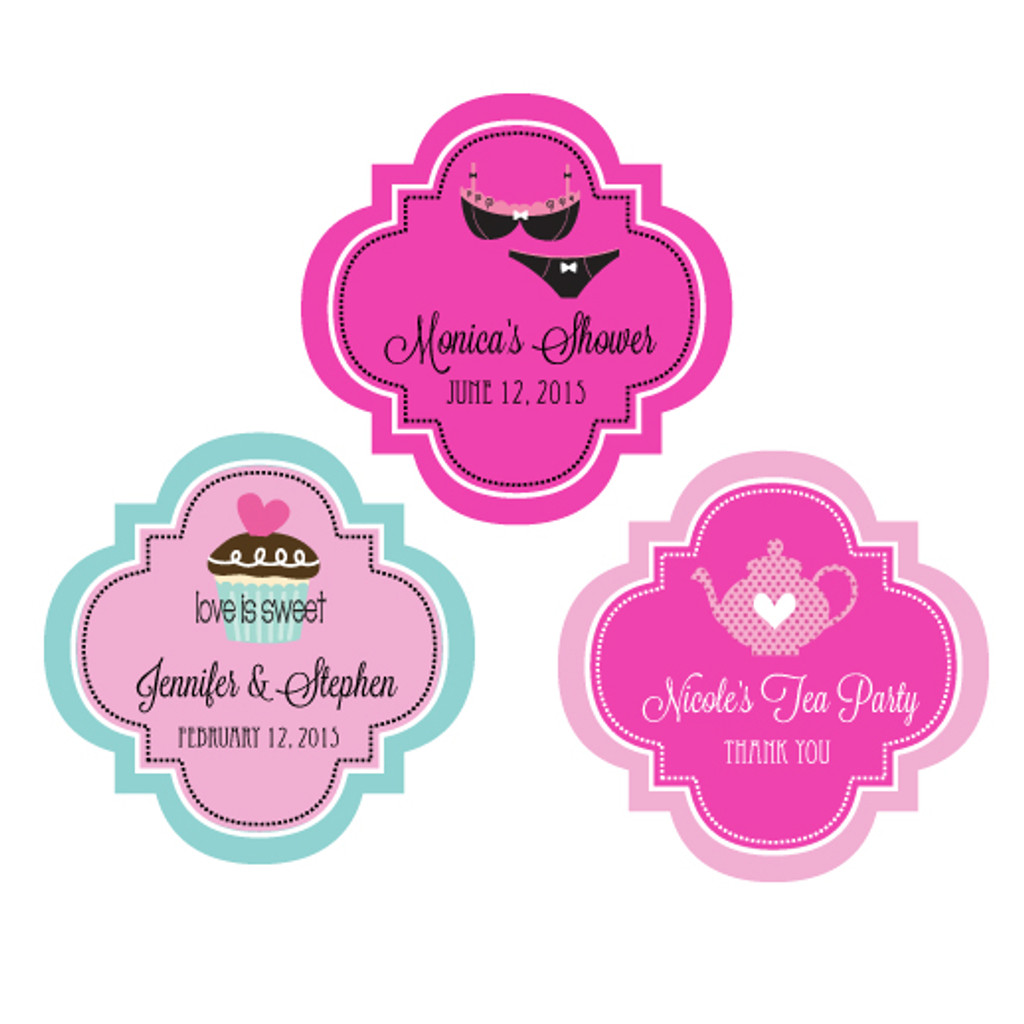 Wedding Favor Label Sticker, Wedding, Bridal Shower, Bachelorette & Anniversary 48ct