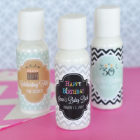 Personalized Birthday Party Favors - Hand Lotion Favor - 24 ct