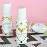 Personalized Gold Wedding Party Favors - Hand Lotion Favor - 24 ct