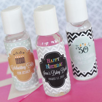 Hand Sanitizer Personalized Birthday Party Favors - 24 ct