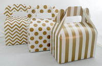 Mini Gable Box - Gold Box - Chevron Favor Box - Stripe Box - Dot Gable Box (12ct)