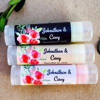 Lip Balm Party Favors - Wedding Favors - Personalized Chapsticks 24ct