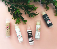 Floral Garden Chapstick Favors 24ct, Floral Garden Lip Balm Tubes - Bridal Shower Chapstick Favors - Wedding Favors