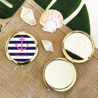 Personalized Tropical Beach Compacts