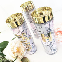 Personalized Rose Garden Tumbler