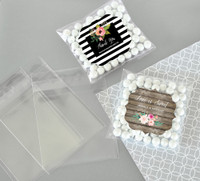 Personalized Floral Garden Clear Candy Bags 24ct