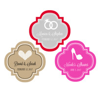 Wedding Favor Label Sticker, Wedding, Bridal Shower, Bachelorette, Anniversary 48ct