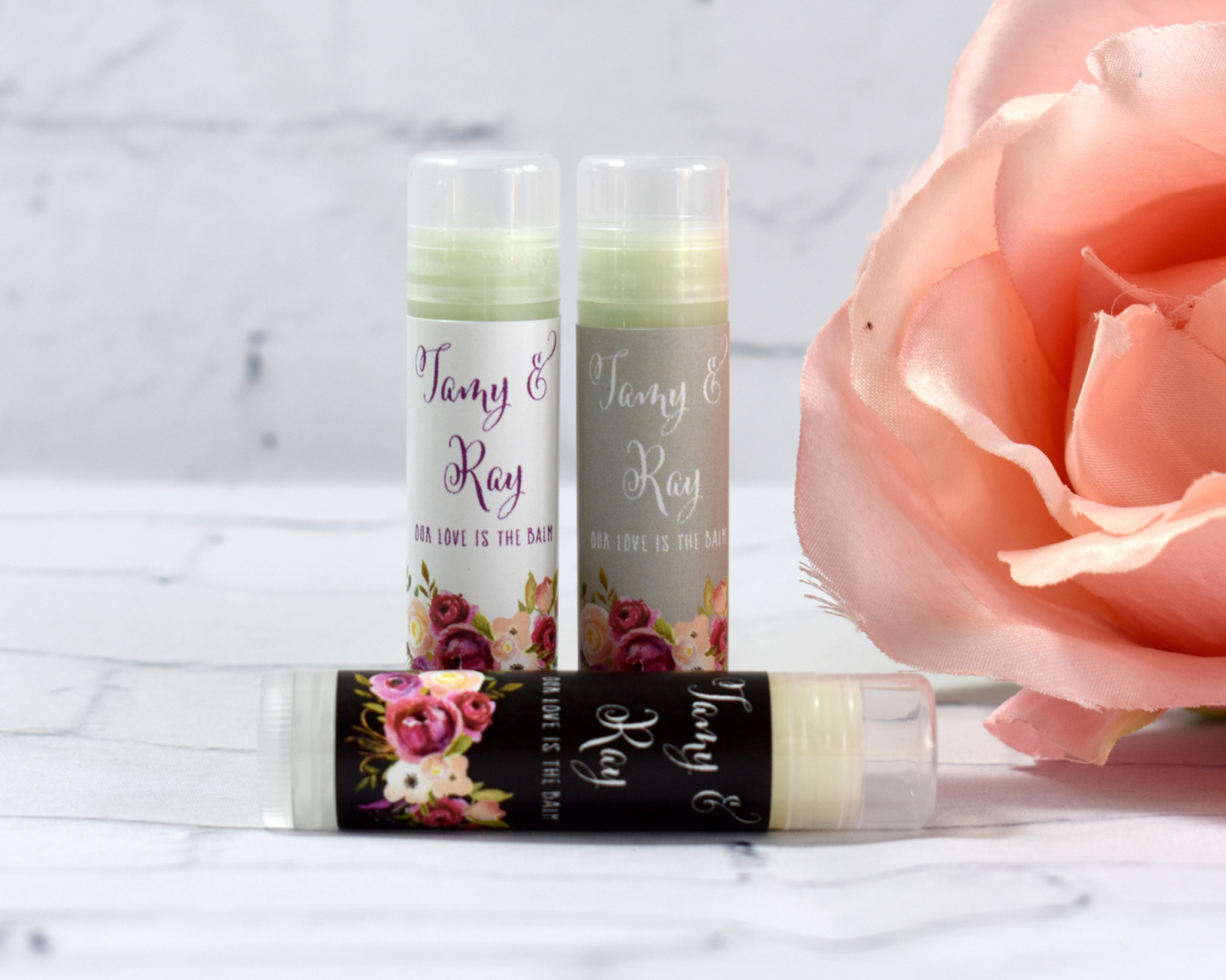 Wedding Chapstick Favors by Momentos Events
