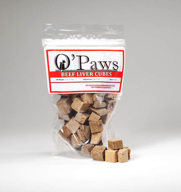 O'Paws Beef Liver Cubes