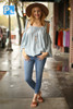 Jean for Joy Light Cropped Skinny Jeans full body front view.