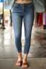 Jean for Joy Light Cropped Skinny Jeans front view.